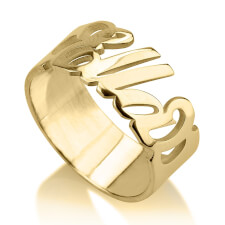 24k Gold Plated Carrie Name Ring