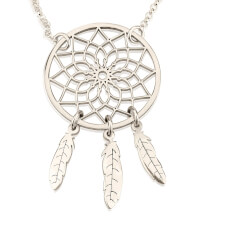 Sterling Silver Dreamcatcher Necklace