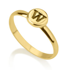 24K Gold Plated Circle Midi Ring