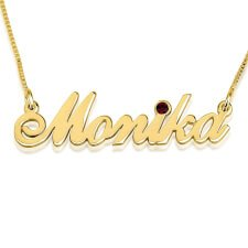 24K Gold Plated Swarovski Alegro Name Necklace