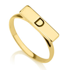 24K Gold Plated Bar Ring