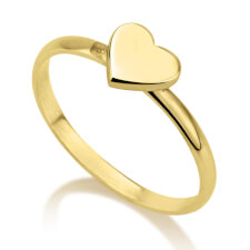 24k Gold Plated Heart Midi Ring
