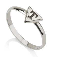Sterling Silver Triangle Midi Ring