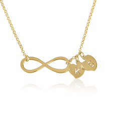 24k Gold Plated Infinity Necklace with Initials