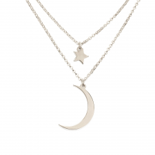 Sterling Silver Starry Sky Layered Necklace