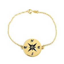 24k Gold Plated Compass Bracelet