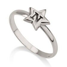 Sterling Silver Star Midi Ring