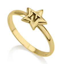 24k Gold Plated Star Midi Ring