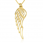 24k Gold Plated Angel Wing Necklace - Thumb