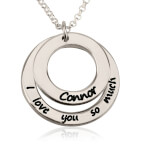 Sterling Silver I Love You So Much Necklace with Name - Thumb