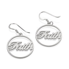 Sterling Silver Name Hoop Earrings