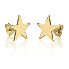 24k Gold Plated Stud Star Earrings