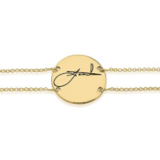 24k Gold Plated Signature Bracelet