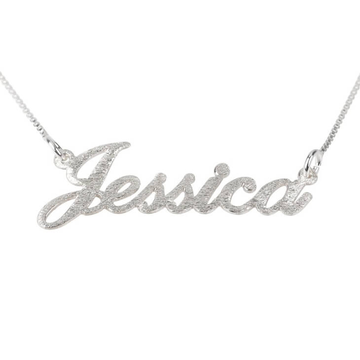 Brushed Alegro Name Necklace