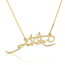 24k Gold Plated Signature Name Necklace