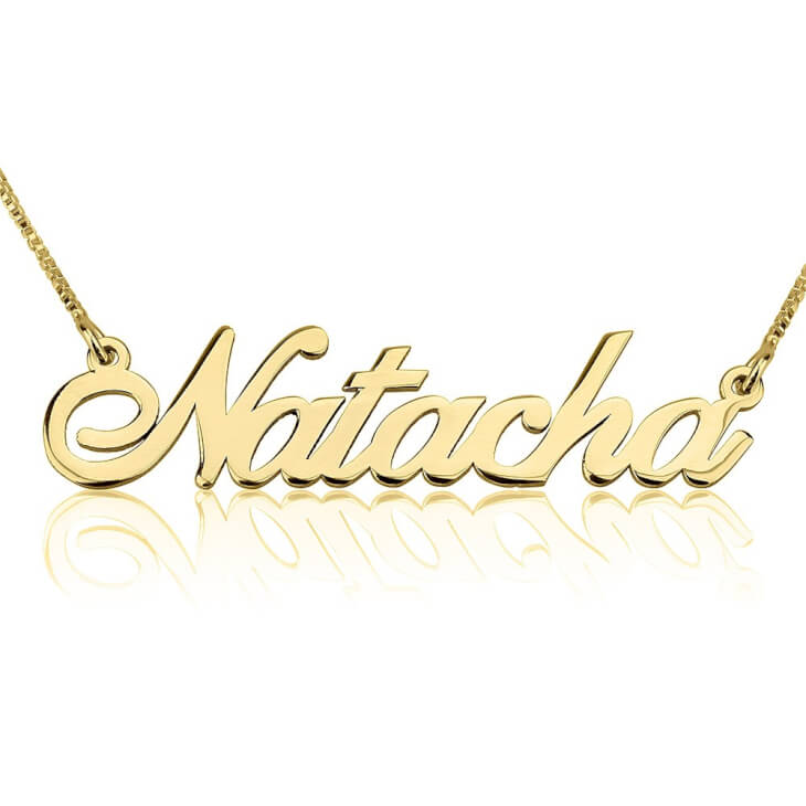 24K Gold Plated Alegro Name Necklace