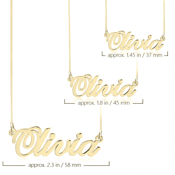 24K Gold Plated Classic Name Necklace  - Picture 2