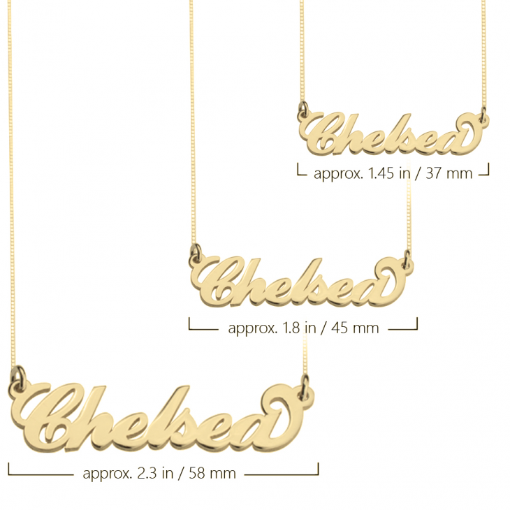 24K Gold Plated Carrie Name Necklace  - Picture 2