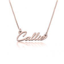 Rose Gold Tiny Cursive Name Necklace
