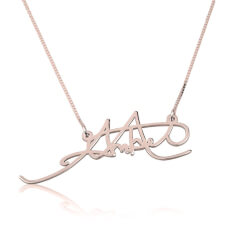 Rose Gold Signature Name Necklace