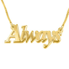 24K Gold Plated Thicker Font Name Necklace