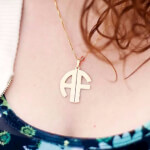 24k Gold Plated 2 Letters Capital Monogram Necklace - How it looks in reality - Thumbnail - 19