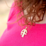 24k Gold Plated 2 Letters Capital Monogram Necklace - How it looks in reality - Thumbnail - 6