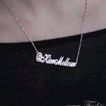 24K Gold Plated Alegro Name Necklace - How it looks in reality - Thumbnail - 14
