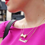 24K Gold Plated Carrie Name Necklace - How it looks in reality - Thumbnail - 18